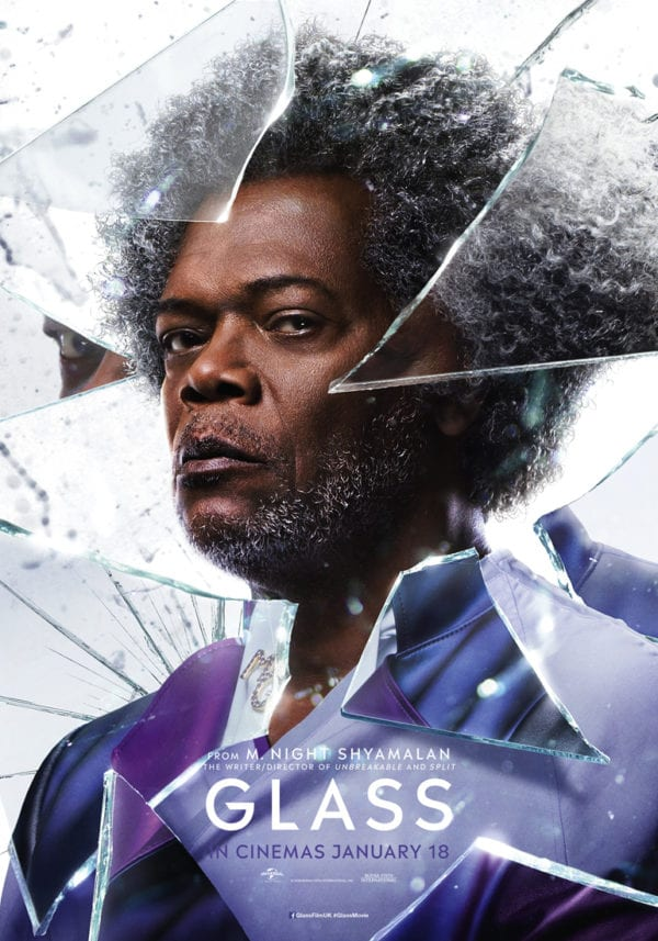 Glass Character Posters Featuring Samuel L Jackson James