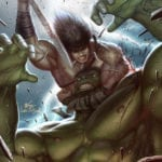 Conan battles Marvel heroes and villains in Conan the Barbarian variant covers