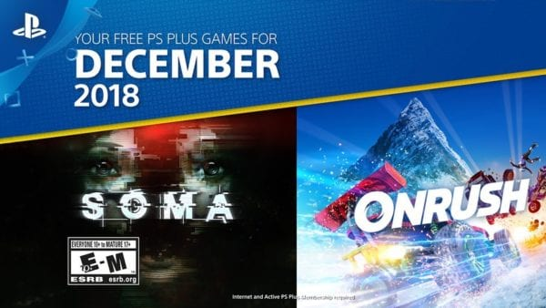 Onrush Headlines December 2018's PlayStation Plus Games
