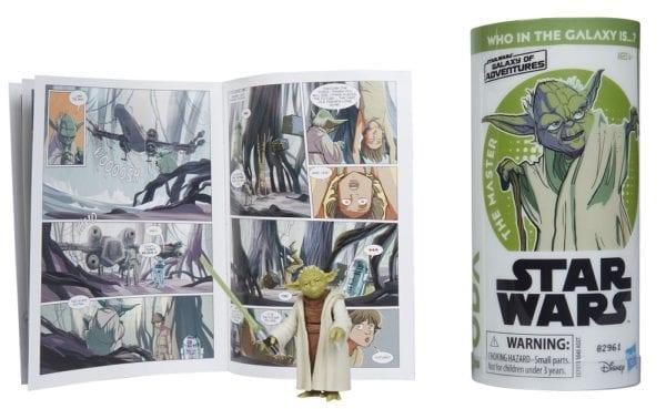 STAR-WARS-GALAXY-OF-ADVENTURES-YODA-Figure-and-Mini-Comic-2-600x369