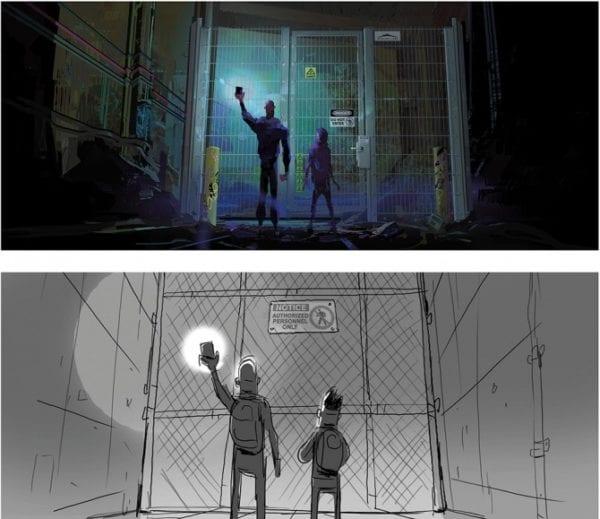Spider Man Into The Spider Verse Gwen Concept Art