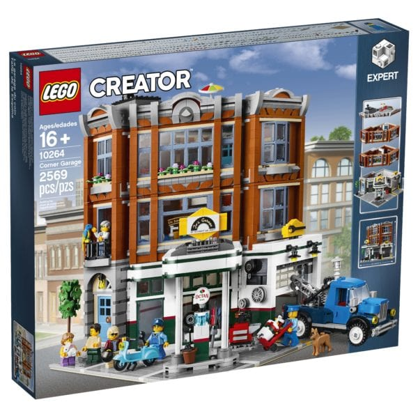 lego creator corner garage 2019 modular building revealed. Black Bedroom Furniture Sets. Home Design Ideas