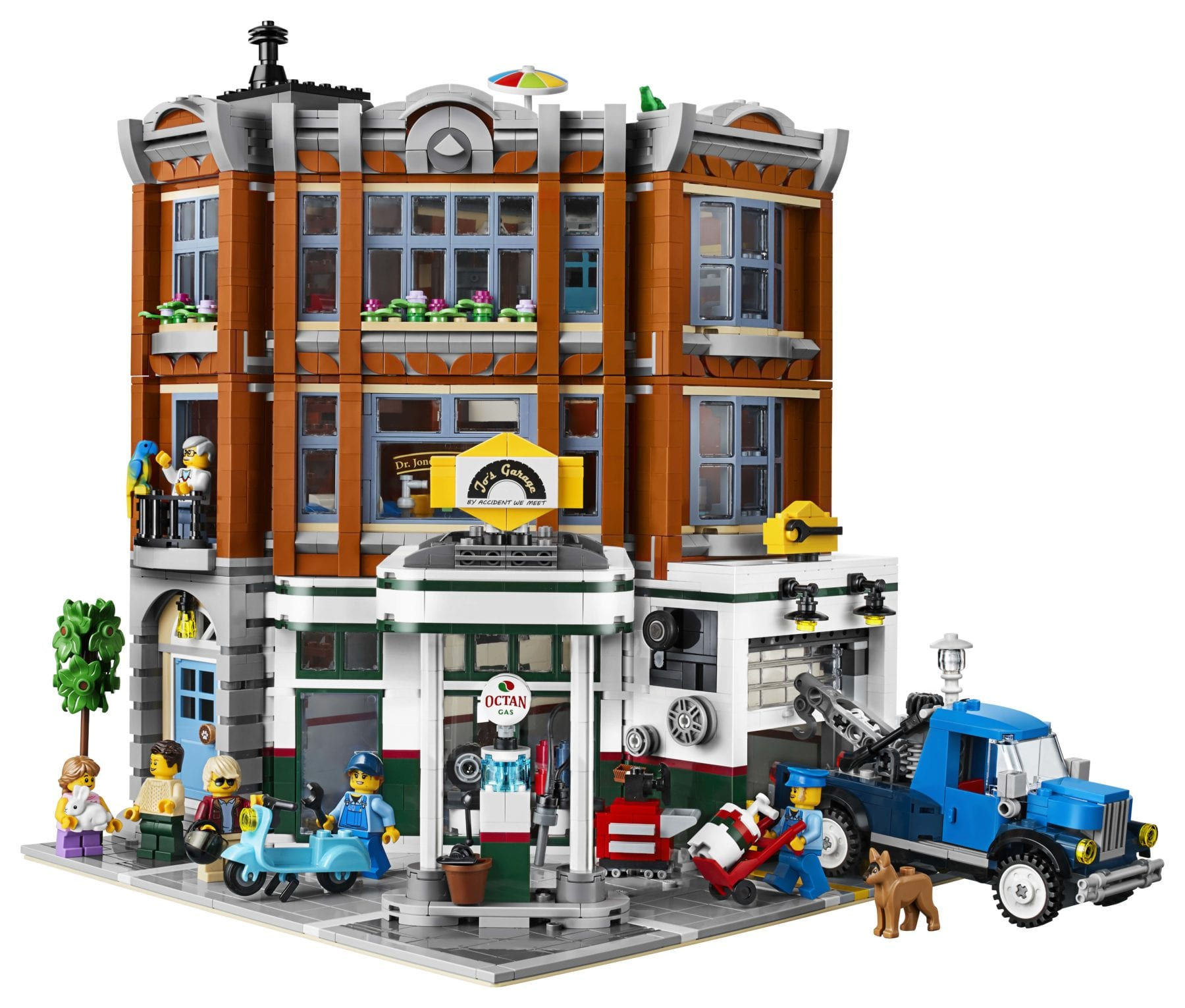 lego creator corner garage 2019 modular building revealed. Black Bedroom Furniture Sets. Home Design Ideas