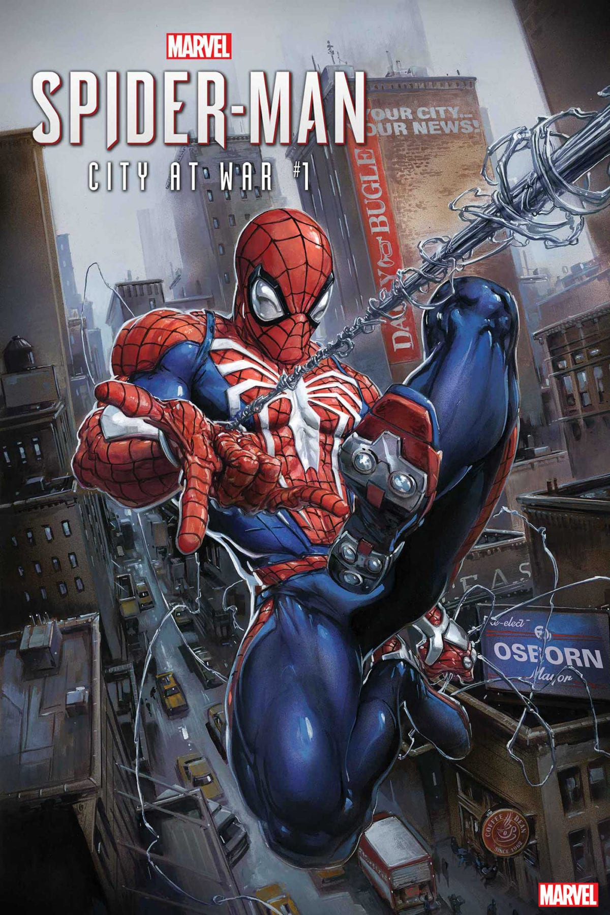 Marvel's Spider-Man swings into the pages of Marvel Comics with City of War