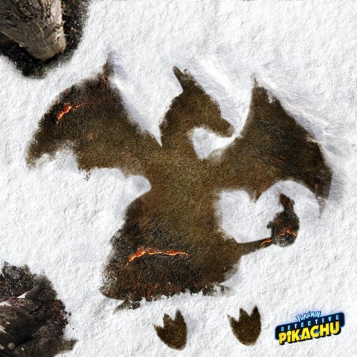 Pikachu Jigglypuff And Charizard Make Snow Angels In Pokemon