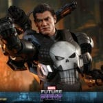 The Punisher dons the War Machine armor for Hot Toys' Marvel Future Fight collectible figure