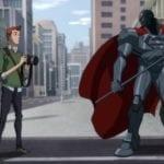Steel saves Jimmy Olsen in Reign of the Supermen clip