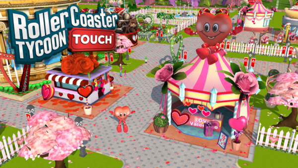 Love is in the air with RollerCoaster Tycoon Touch Valentine's Day
