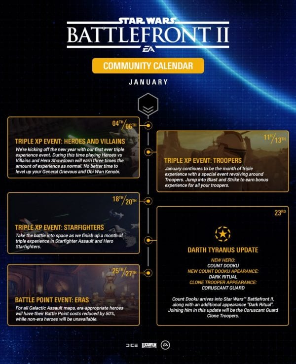 EA announces Darth Tyranus update for Star Wars Battlefront II