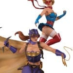 DC Bombshells Batgirl and Supergirl Celebration statue unveiled by DC Collectibles