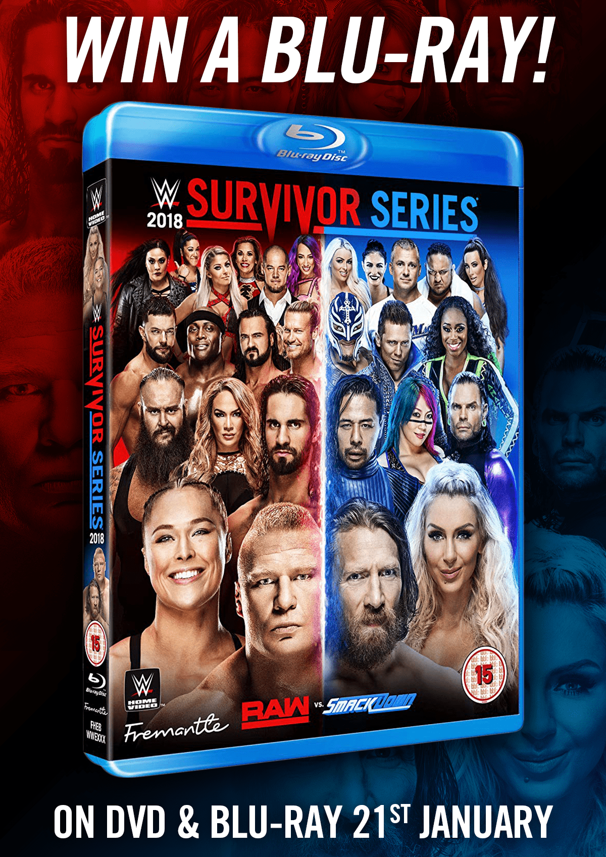 Giveaway - Win WWE Survivor Series 2018 on Blu-ray - NOW ...