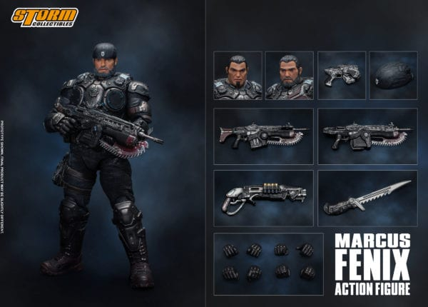 Storm Collectibles' Gears of War action figure line launches with Marcus Fenix and Augustus Cole