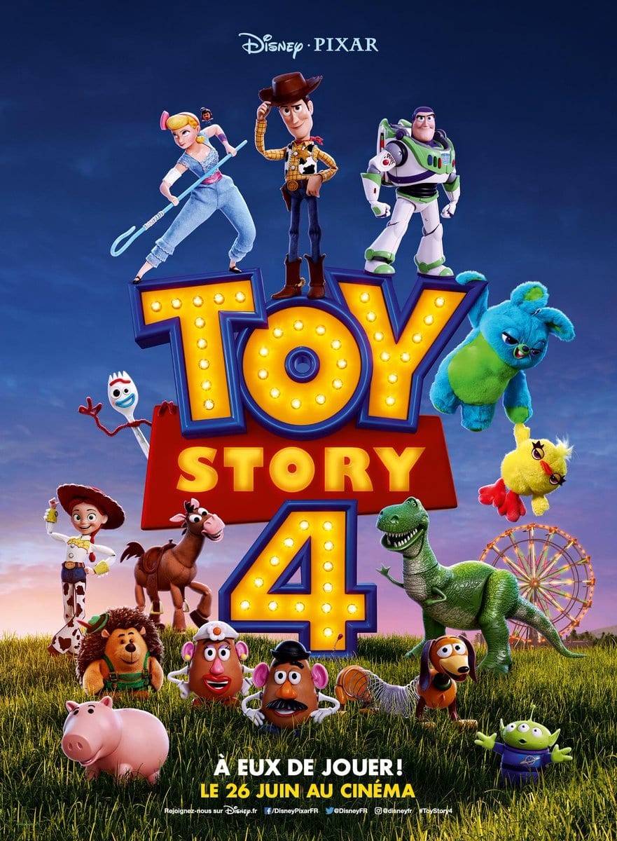 toy story 4 poster features toys old and new