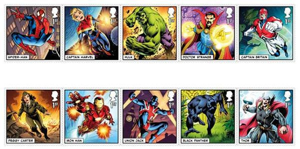 Royal Mail releases Marvel Super Heroes stamp collection