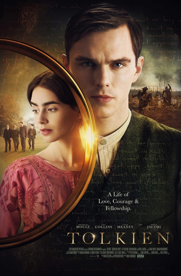 New poster for Tolkien featuring Nicholas Hoult and Lily Collins