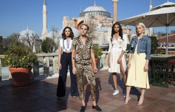 First look images from Charlie's Angels featuring Kristen Stewart, Ella Balinska and Naomi Scott