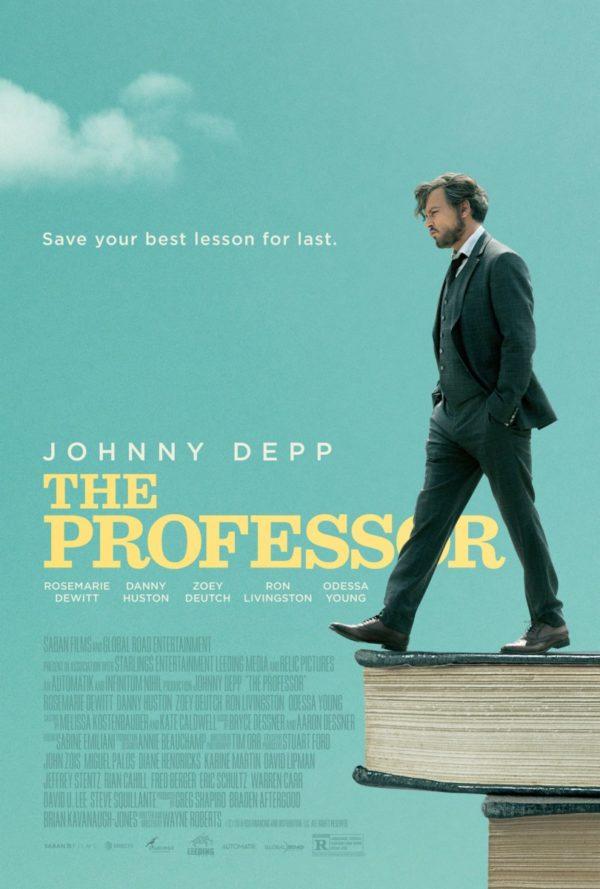 Official poster for The Professor starring Johnny Depp
