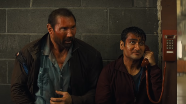 Kumail Nanjiani and Dave Bautista team up in new trailer for action comedy Stuber