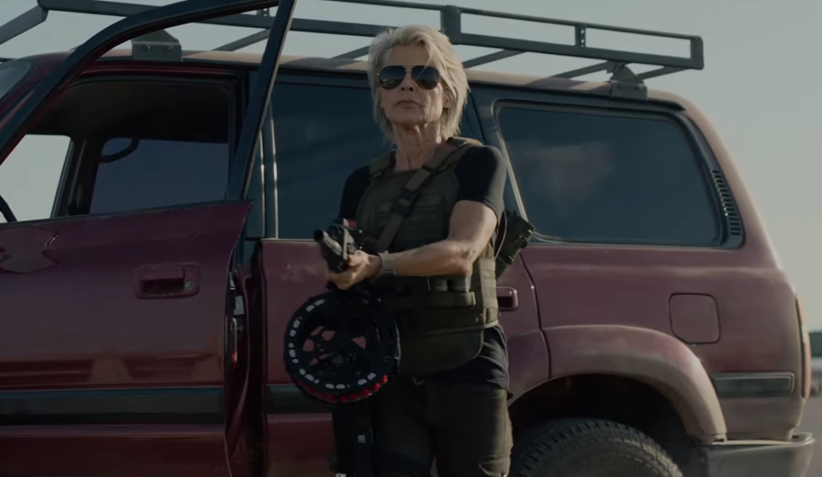 Sarah Connor makes an explosive entrance in first Terminator: Dark Fate clip