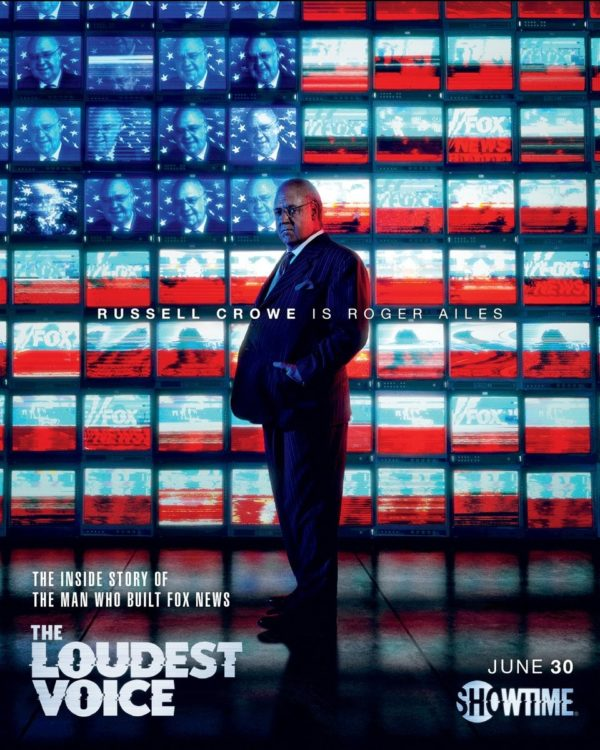 Poster and trailer for The Loudest Voice starring Russell Crowe as Roger Ailes