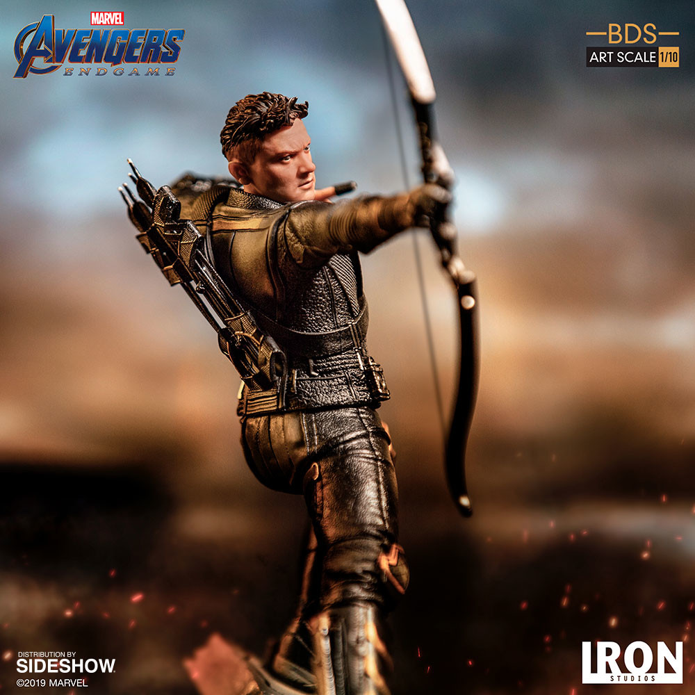 Iron Studios Avengers Endgame Hawkeye Battle Diorama Series Revealed