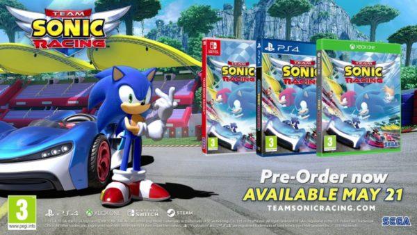 Team Sonic Racing launch trailer speeds into view