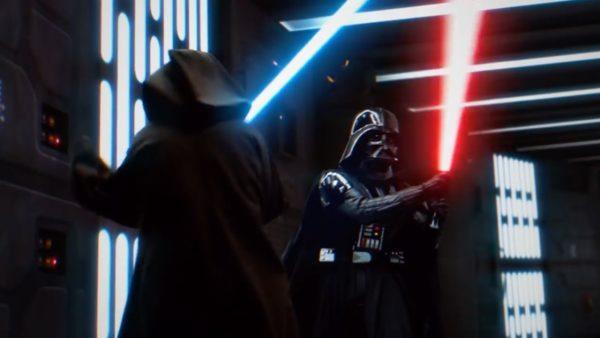 Darth Vader and Ben Kenobi's Death Star duel from Star Wars gets an impressive fan made reimagining