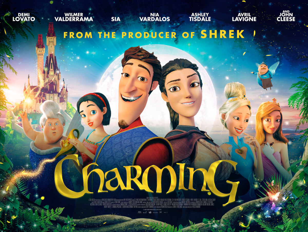 Trailer for animated musical fantasy Charming featuring Demi Lovato, Avril Lavigne, Sia and Ashley Tisdale