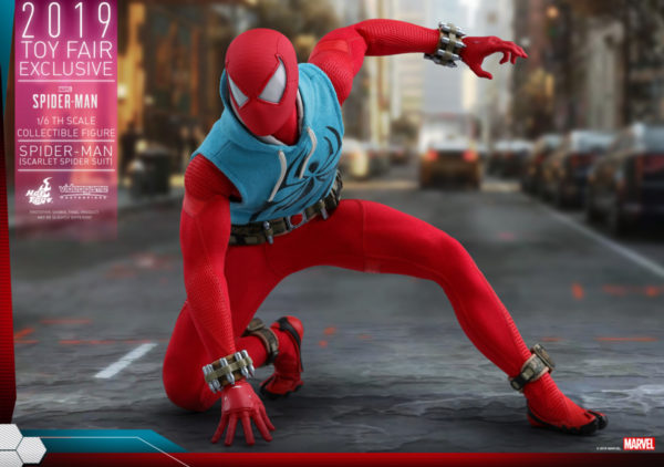 Hot-Toys-Marvel-Spider-Man-Spider-Man-Scarlet-Spider-Suit-collectible-figure_PR10-600x422