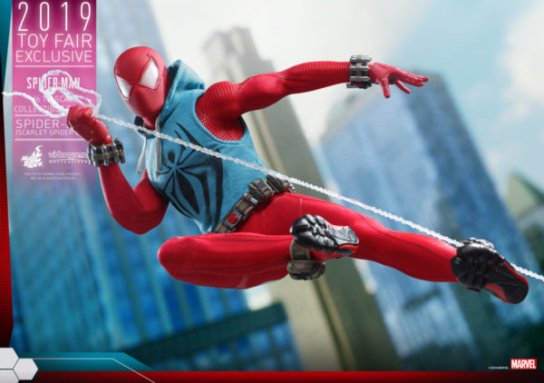 Hot-Toys-Marvel-Spider-Man-Spider-Man-Scarlet-Spider-Suit-collectible-figure_PR2-600x422