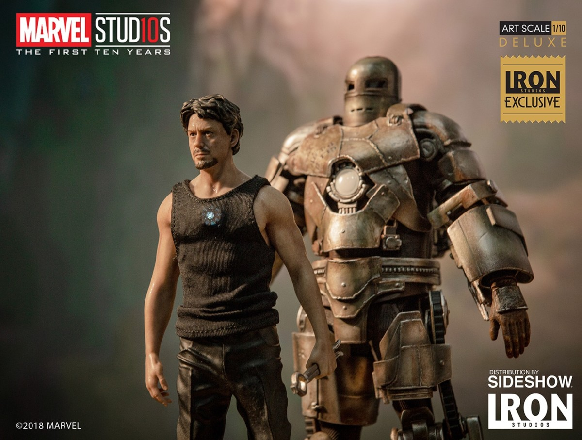Iron Studios Exclusive 1//10 Iron Man Mark 1 /& Tony Stark statue in stock