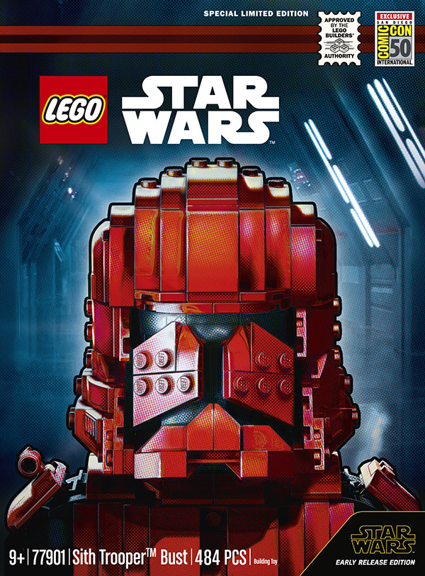 Comic-Con exclusive LEGO Star Wars Sith Trooper Bust revealed
