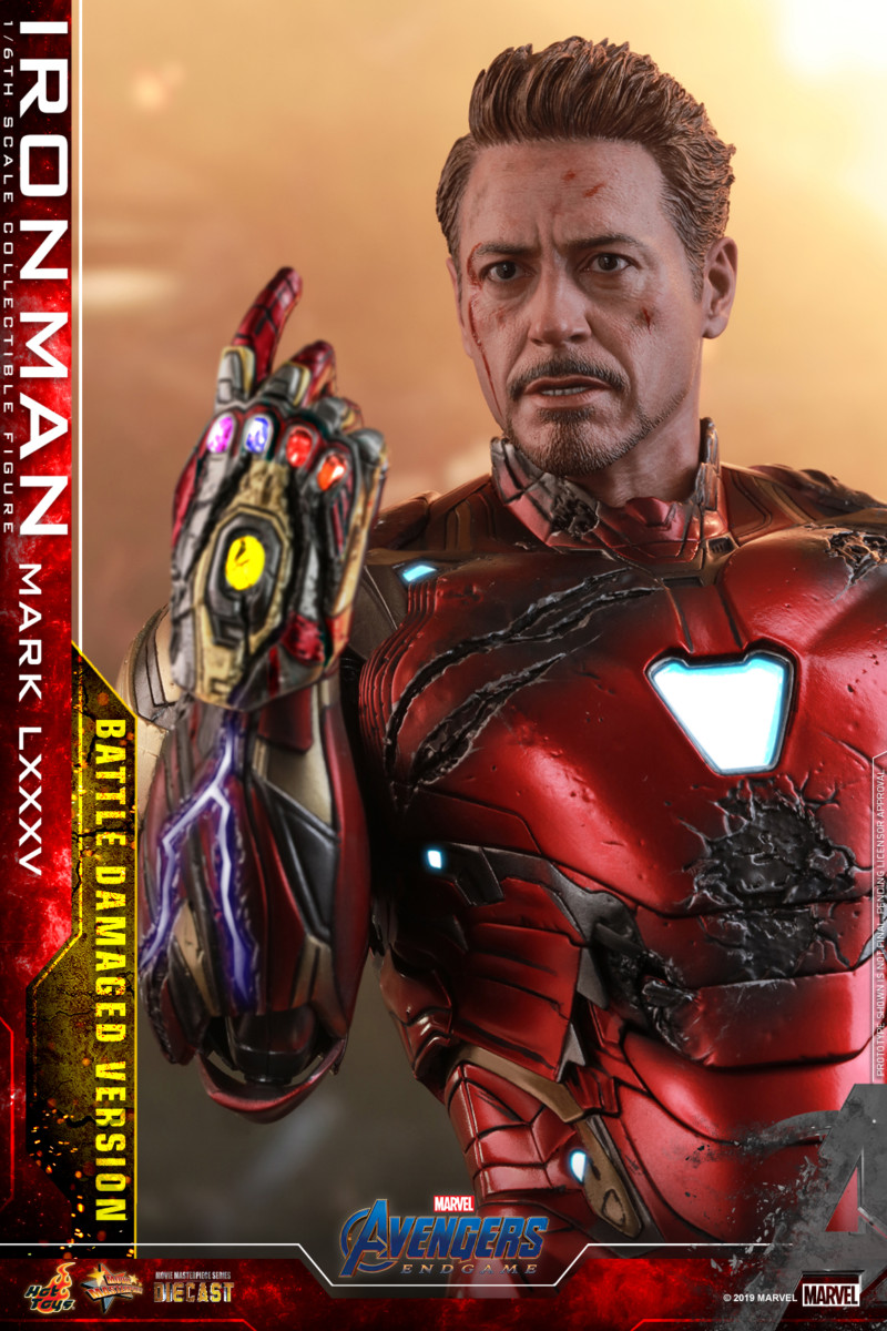 Hot Toys Avengers Endgame Battle Damaged Iron Man Movie Masterpiece Series Figure -8999