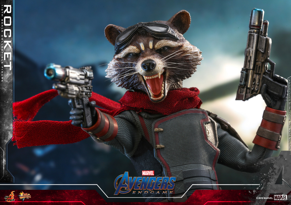 Avengers: Endgame Rocket Raccoon Movie Masterpiece Series figure unveiled by Hot Toys