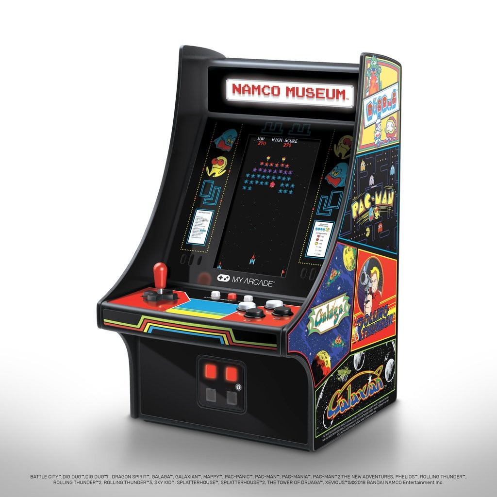 Namco Museum Mini Player packs 20 classic games into a mini arcade cabinet