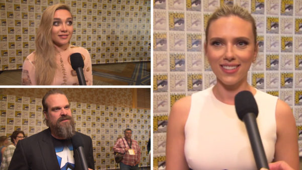 Marvel's Black Widow cast discuss the movie in Comic-Con video interviews