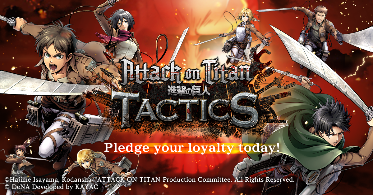 Pre-registration for Attack on Titan TACTICS now available on Google Play
