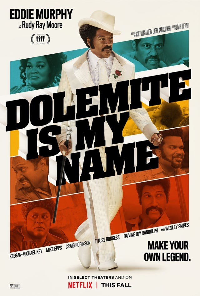 First poster for Dolemite Is My Name featuring Eddie Murphy