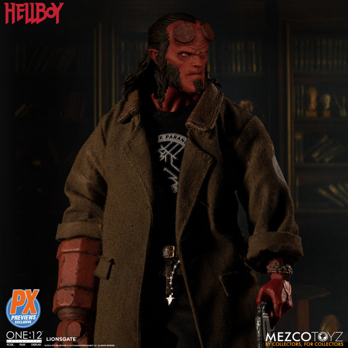Hellboy gets a One:12 Collective action figure from Mezco Toys