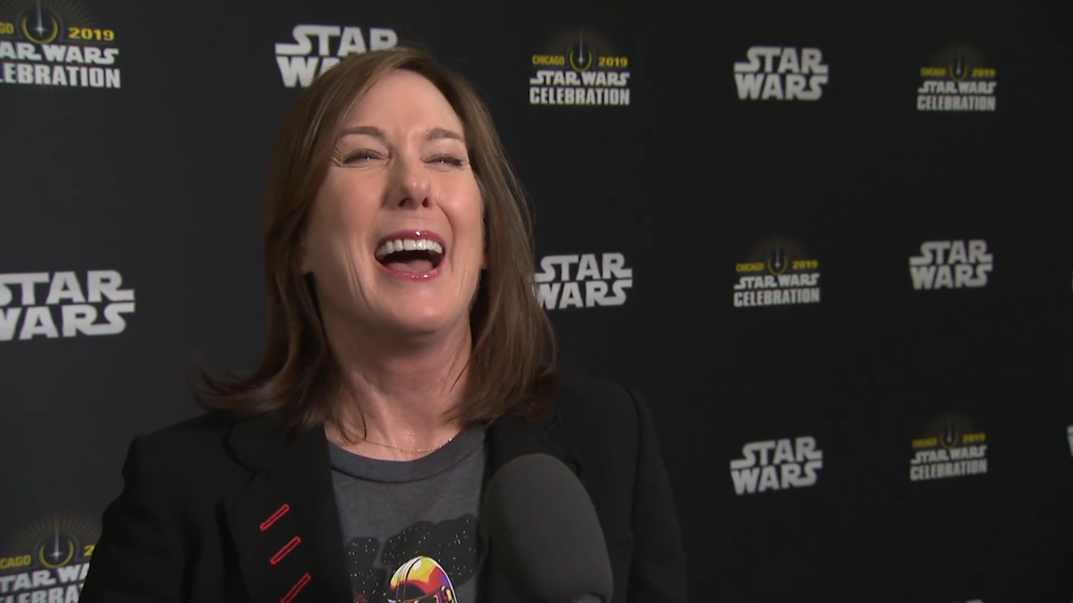 Lucasfilm boss Kathleen Kennedy says she loves Star Wars fan feedback and criticism