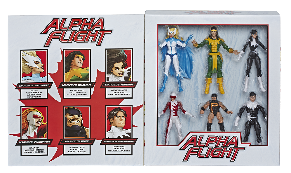 Hasbro's Marvel Legends Series Alpha Flight 6-pack revealed at Fan Expo