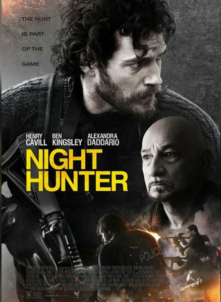 New trailer for Night Hunter starring Henry Cavill, Ben Kingsley and Alexandra Daddario