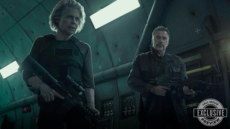 New Terminator: Dark Fate image features Linda Hamilton and Arnold Schwarzenegger