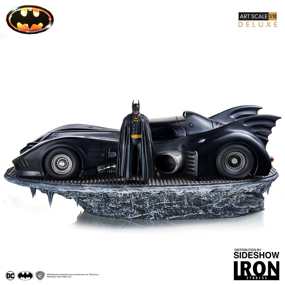 1989 Batman & Batmobile gets a deluxe collectible statue from Iron Studios