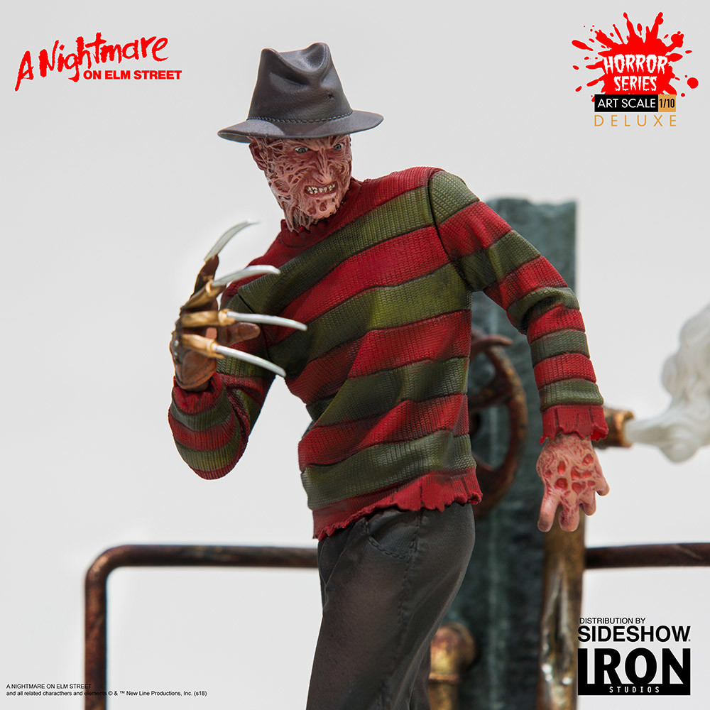 Freddy Krueger gets a deluxe collectible statue from Iron Studios