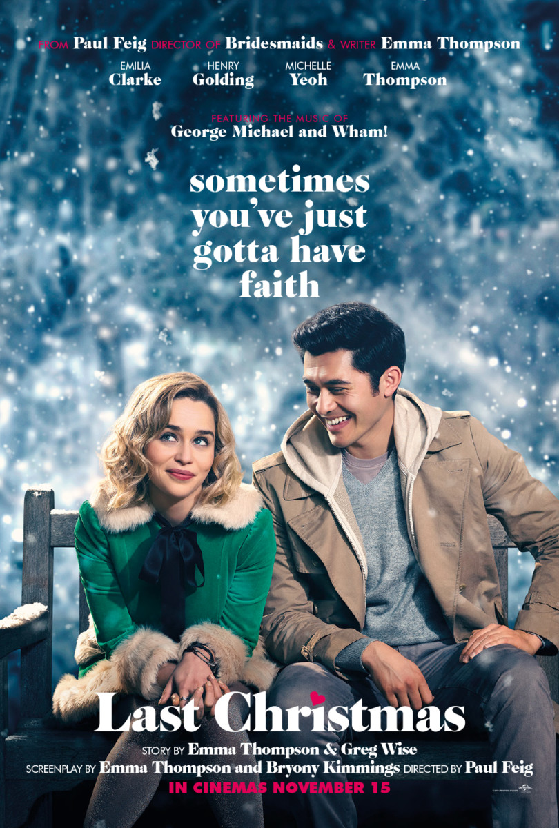 New poster for Paul Feig's Last Christmas featuring Emilia Clarke and Henry Golding
