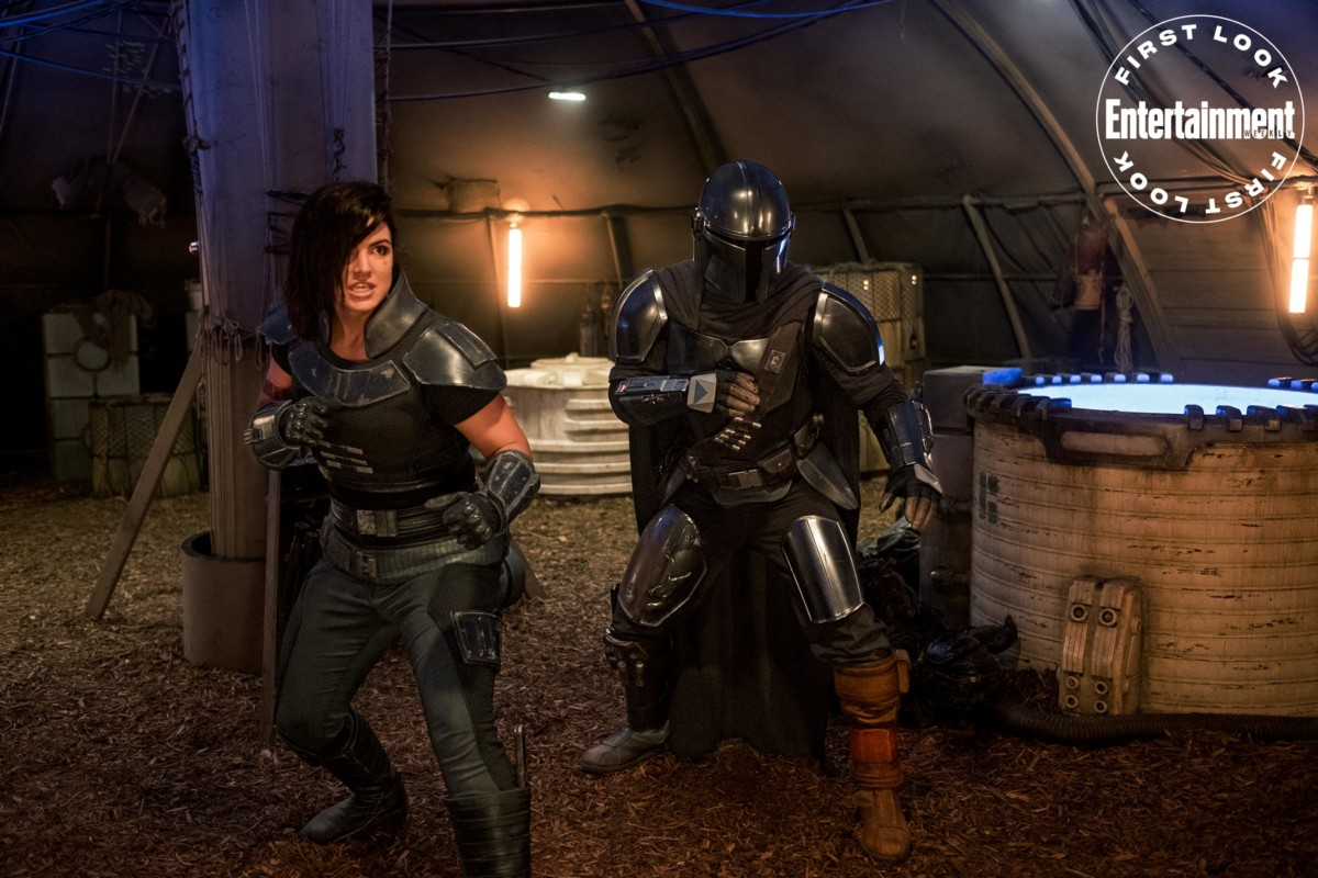 Pedro Pascal and Gina Carano are ready for action in The Mandalorian image