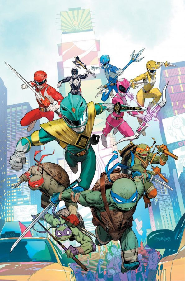 First look at the Mighty Morphin Power Rangers/Teenage Mutant Ninja Turtles crossover