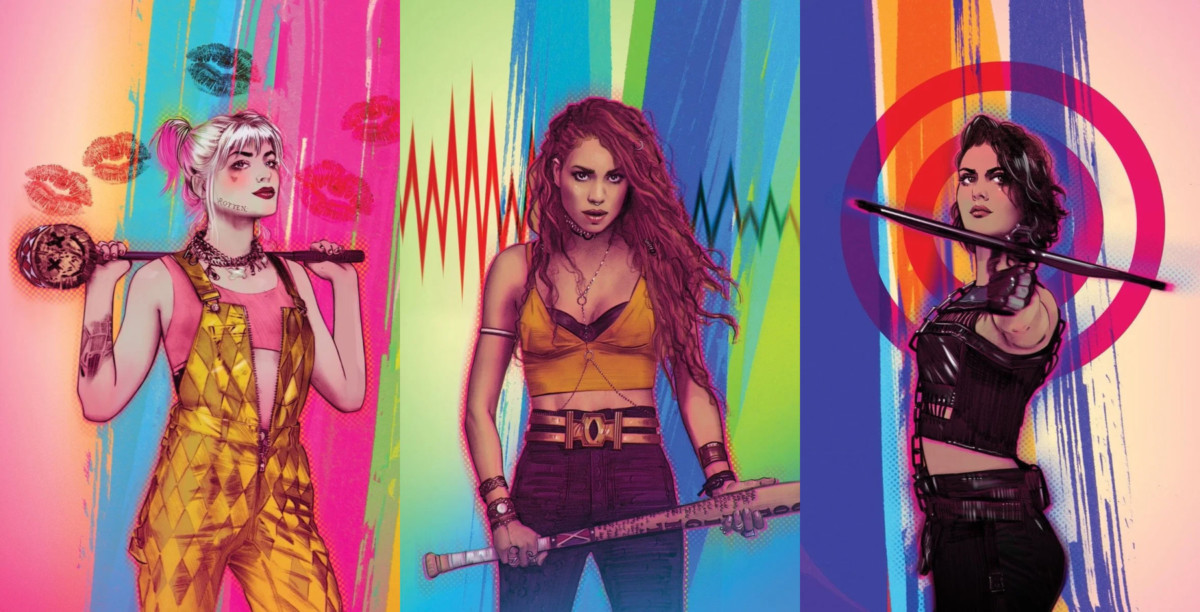 Birds of Prey artwork showcases Harley Quinn, Black Canary and the Huntress
