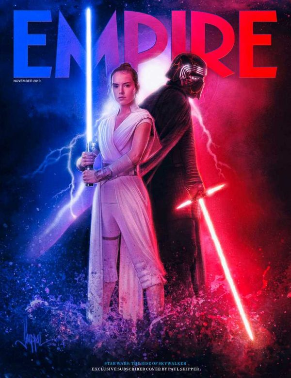 Rey And Kylo Ren Grace Empire S Star Wars The Rise Of Skywalker Covers